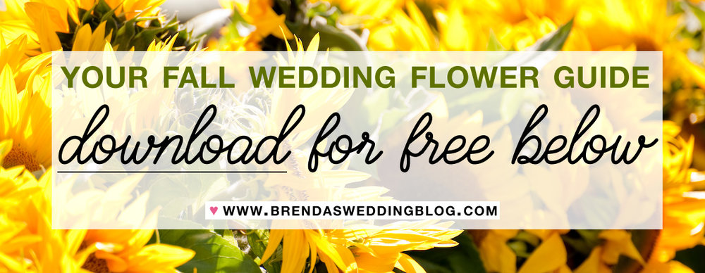 Download Your Free Fall Wedding Flower Guide on Brenda's Wedding Blog