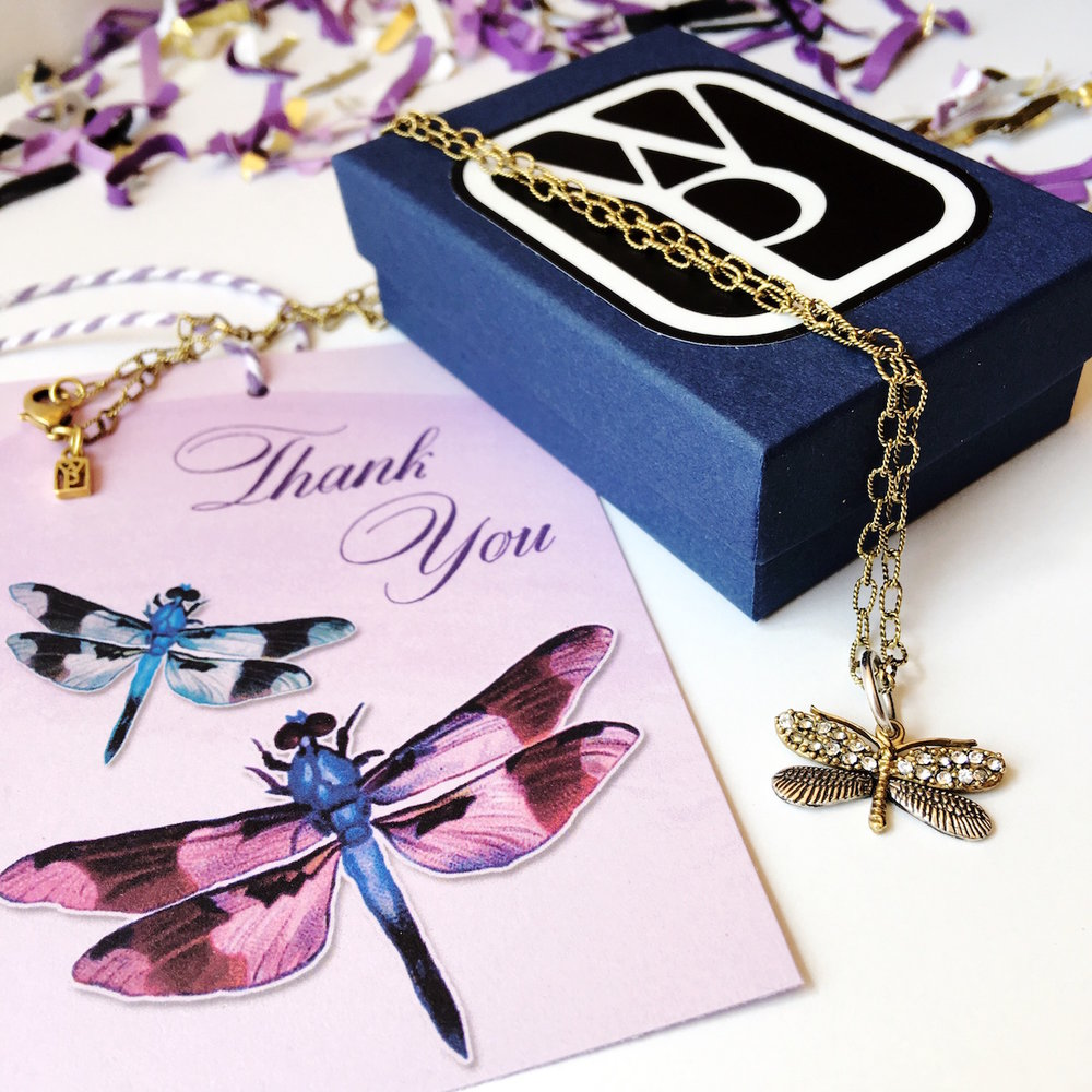 Dragonfly Necklace from Waxing Poetic with Free Gift Tags