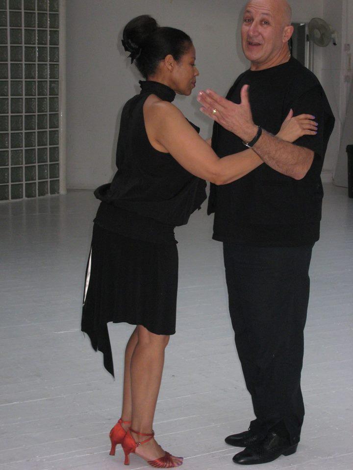 Oscar teaching with Lora,  Tango Heat