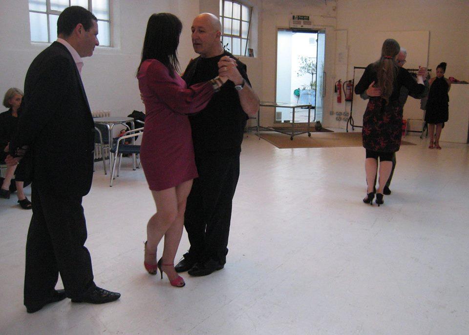 Teaching at  Milonga La Tanguera, Tango Heat