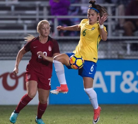 Thais Reiss - Since 2015, Thais has played for the Brazilian National U17 Team. She played in the 2018 Women's World Cup in France and currently plays for the University of North Florida as well as for the Brazilian National Team.