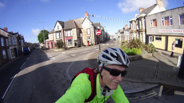 Another scenic village (Camborne) - the sun is still out, so I was a happy cyclist.