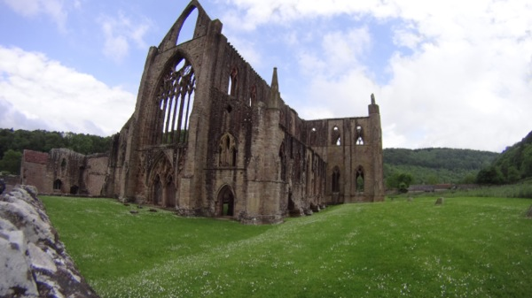Tintern Cathedral - an amazing sight as I entered the small town at speed. Not sure why is ruined.