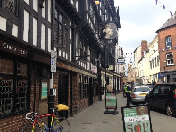 Ludlow - a great medieval town and wonderful coffee shop.