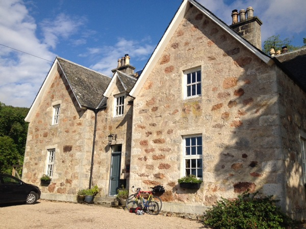 Culgower House - just out of Helmsdale, Scotland. The nicest place I stayed- more suited to a romantic weekend then a roof for a smelly cyclist.