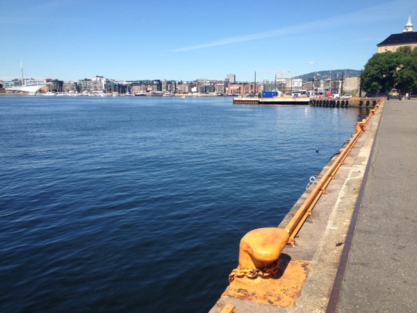 My first sight of Oslo harbour after checking into the hostel. It was a beautiful, warm day.