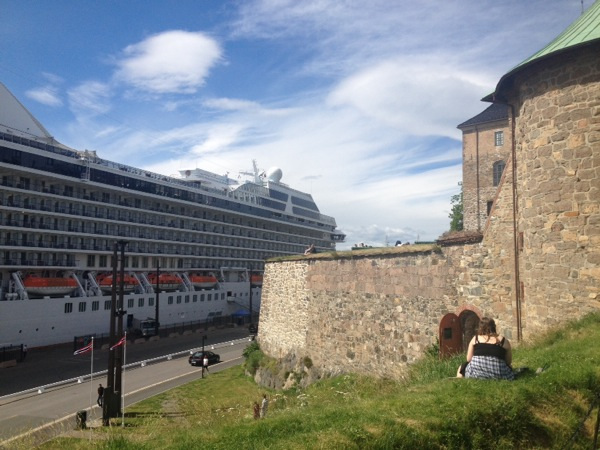 The 13th century fortress could not hold back this ship. It's a great view from here