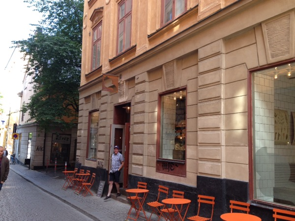 Bakery in the old city - Gamla Stan. Good pastries and Motown music here.