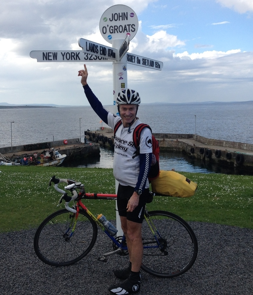 Pauls after 1650km LEJOG ride -  2014