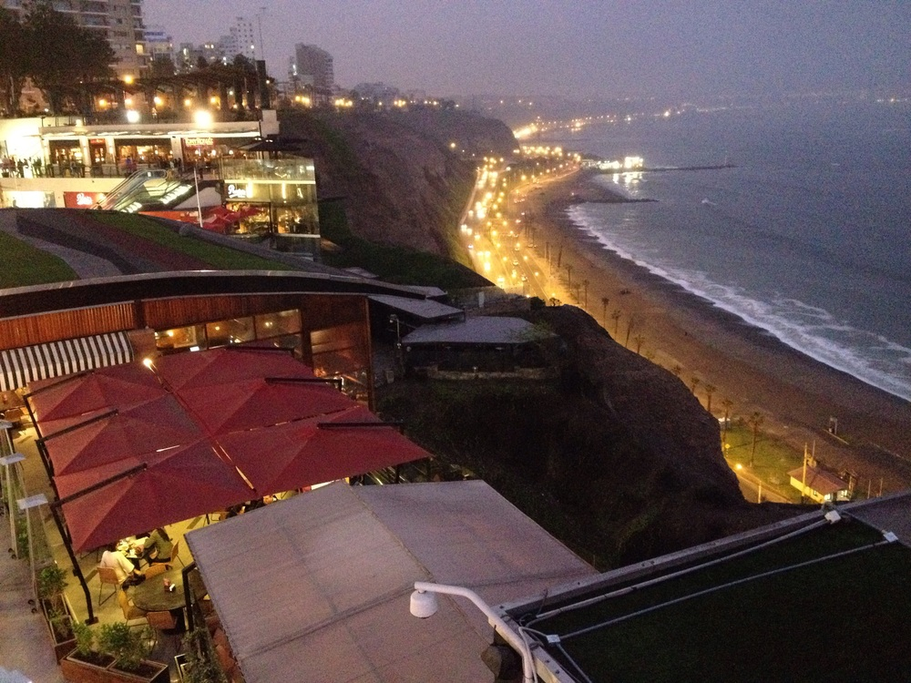 The up-market area of Miraflores
