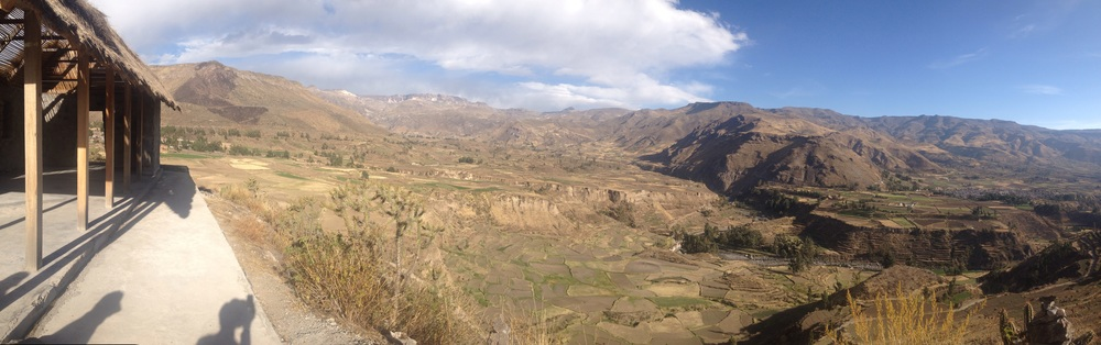 View from short walk near Coporaque  near Colca Canyon