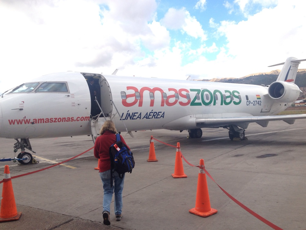 After 6 hour delay in Cusco we boarded the plane to La Paz