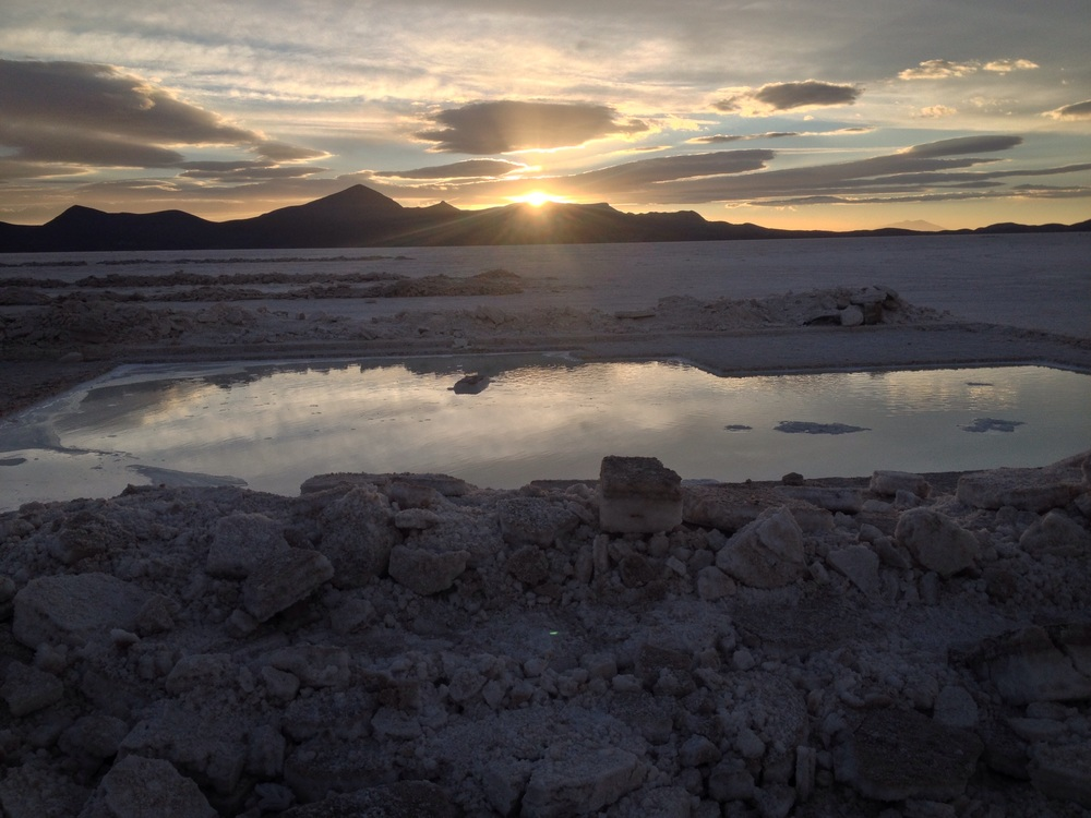 Sunset over the Salt Flats