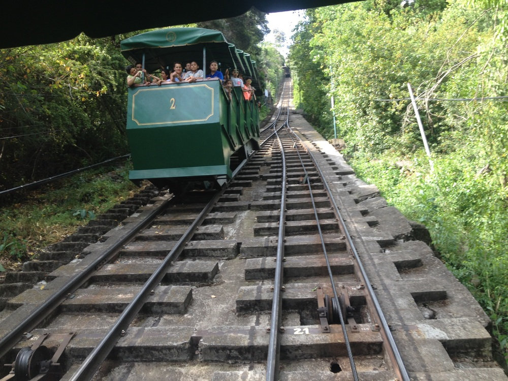 The funicular climbs 259m to the San Cristóbal Hill