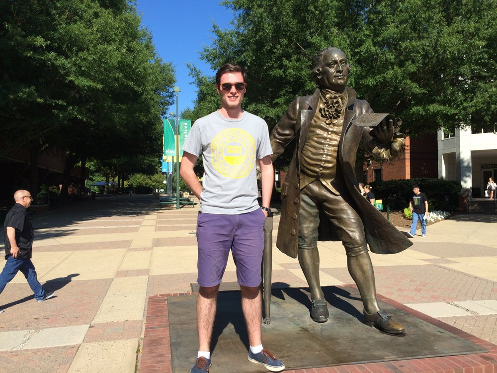 Pat with George Mason