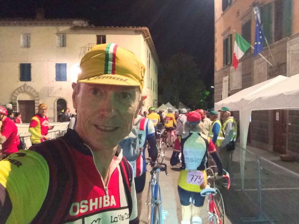 6:15 start of L'Eroica at Gaiole