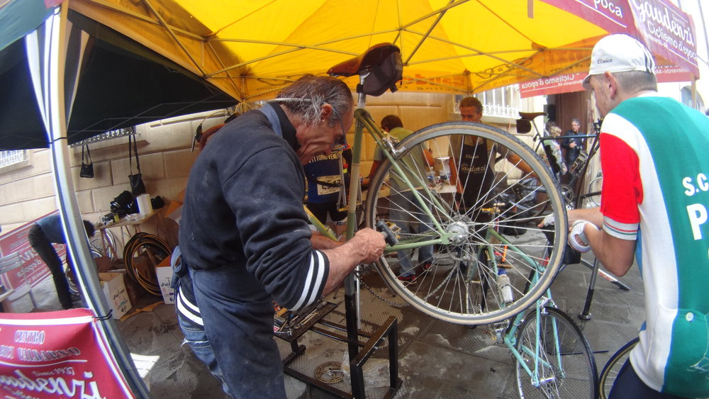 This Italian mechanic knew his trade- Note the hammer & screwdriver to fix my bicycle.