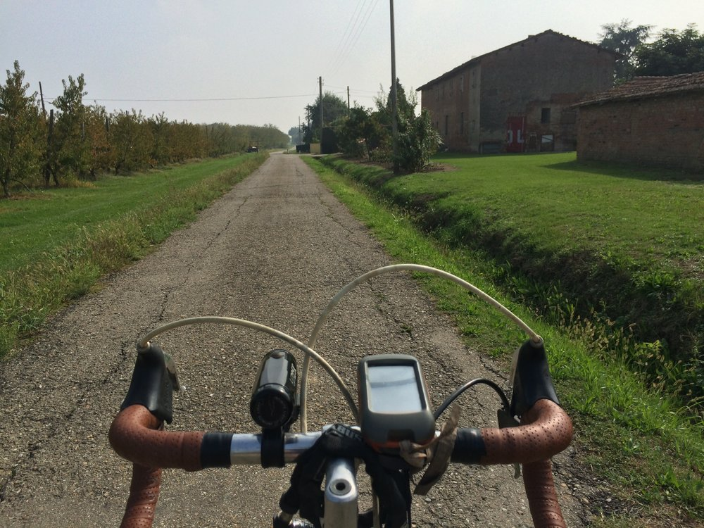Rural Lanes to Imola made for safe cycling