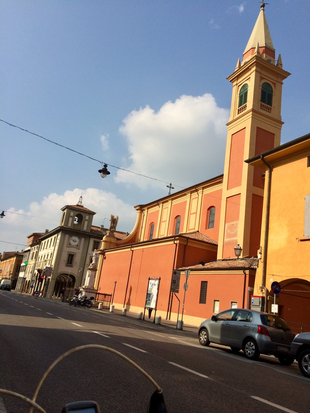 Pretty town of Castelfranco Emilia- forced the GPS to go this way