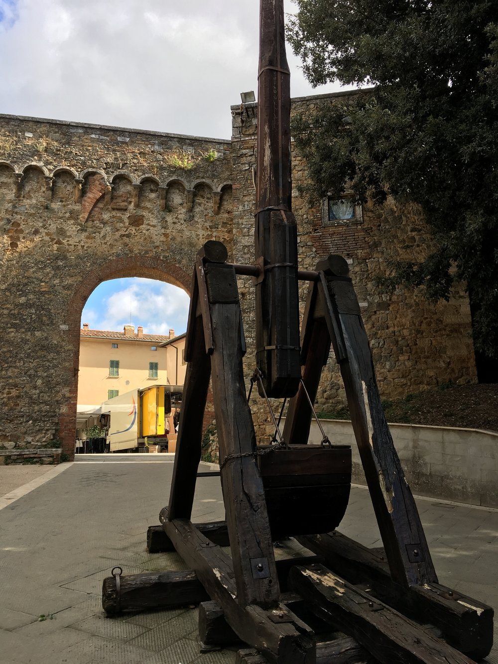 San Quirico d'Orcia - a short distance away- another Middle Ages town