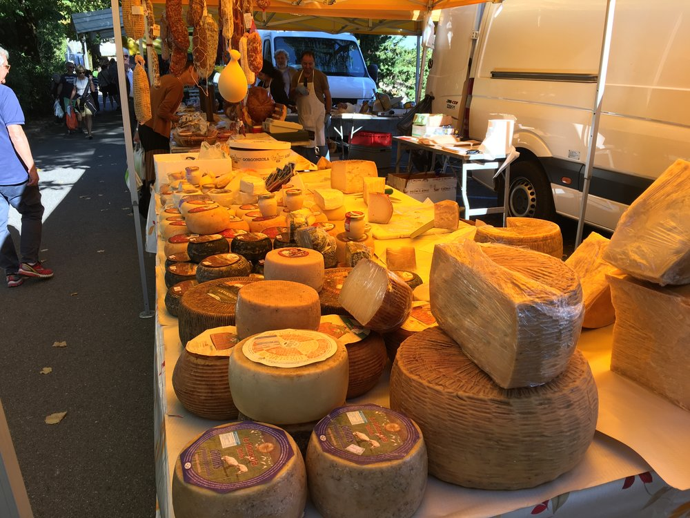 A fine selection of market cheese