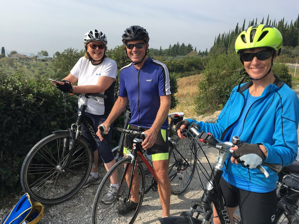 Karen, Charlie and Becky on the way down SR222