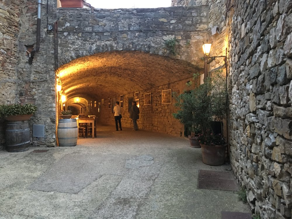 Interesting tunnels at Castellina