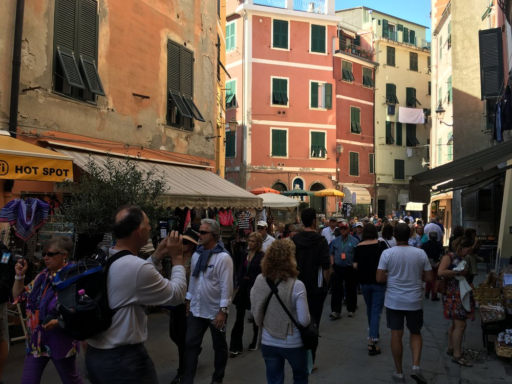 Busy with tourist in Vernazza