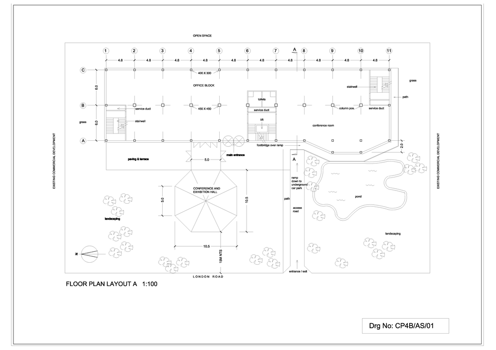4. Office block plans