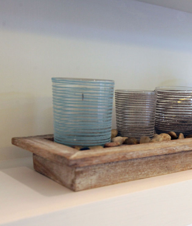 Pebble Tray Candle Holders