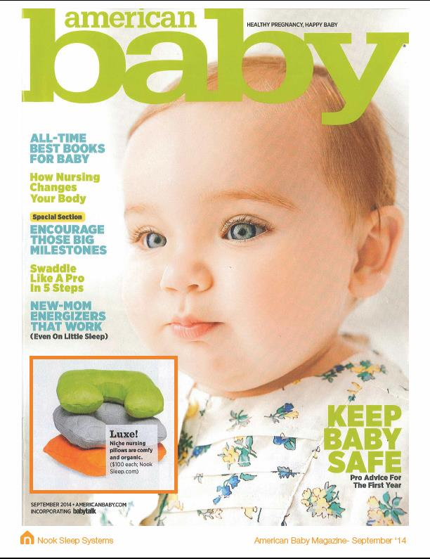 American Baby Magazine - September 2014: Niche Feeding Pillow