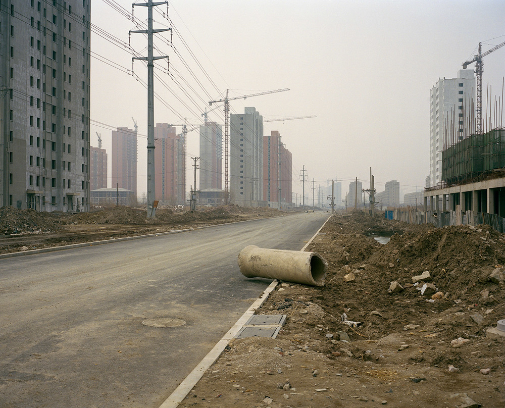 Abandoned road in Yingkou downtown