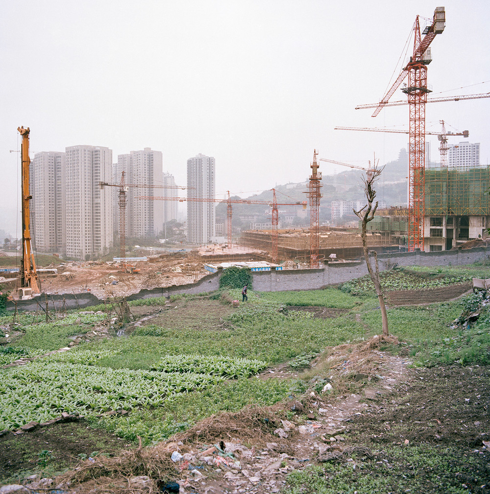 One of the many walls of china | between fast urbanisation and its population trying to catch up.