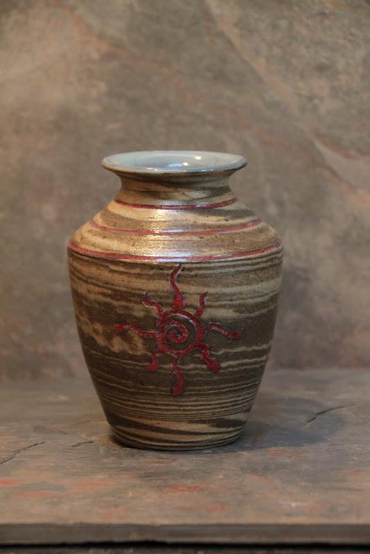 Crimson Sun Vase