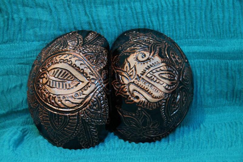 Mehndi Double Bowls 2