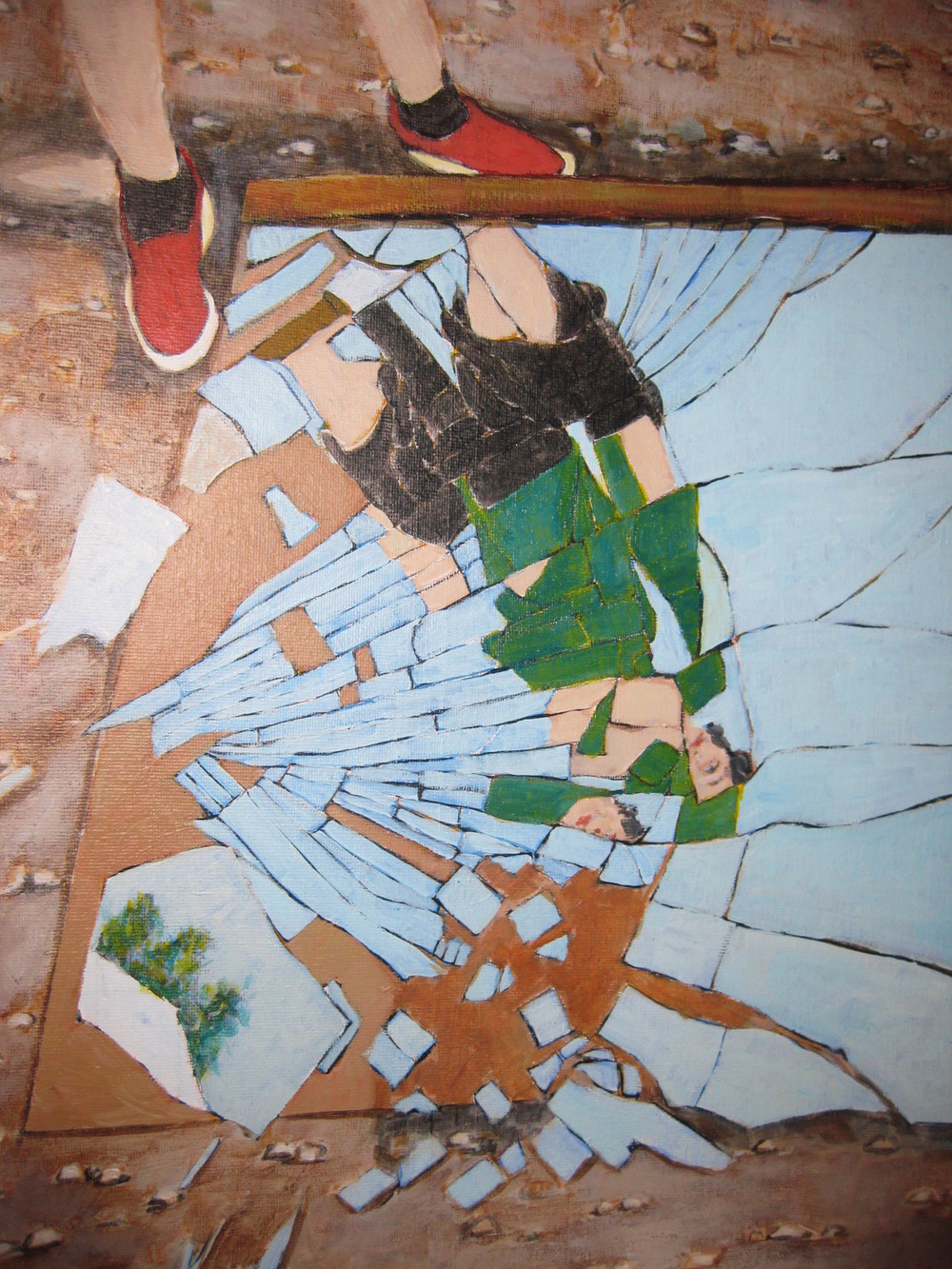 Self Portrait, Shattered Glass #2