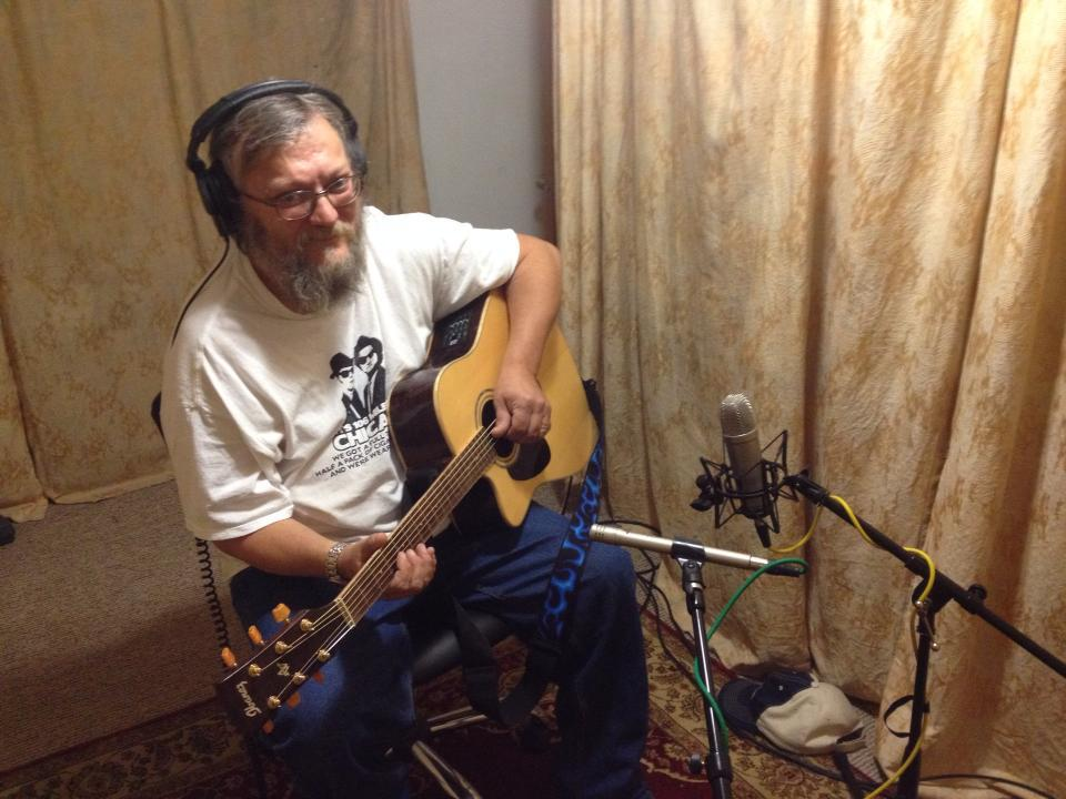 Mike recording guitar for Gayla Kovarik's project at Tone Tree Audio Studio in Lincoln, Nebraska.