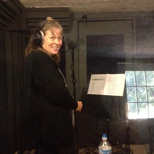 Gayla Kovarik recording vocals for her gospel project at Tone Tree Audio Studio in Lincoln, Nebraska.