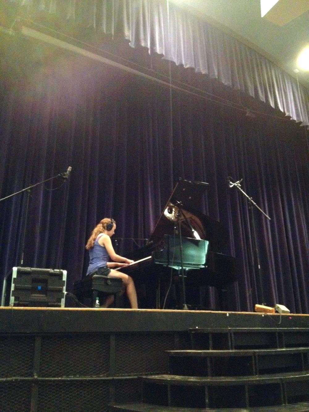 Megan Widger records five original piano pieces with Tone Tree Audio in Kearney, Nebraska in late summer 2014 at Kearney High School Auditorium.