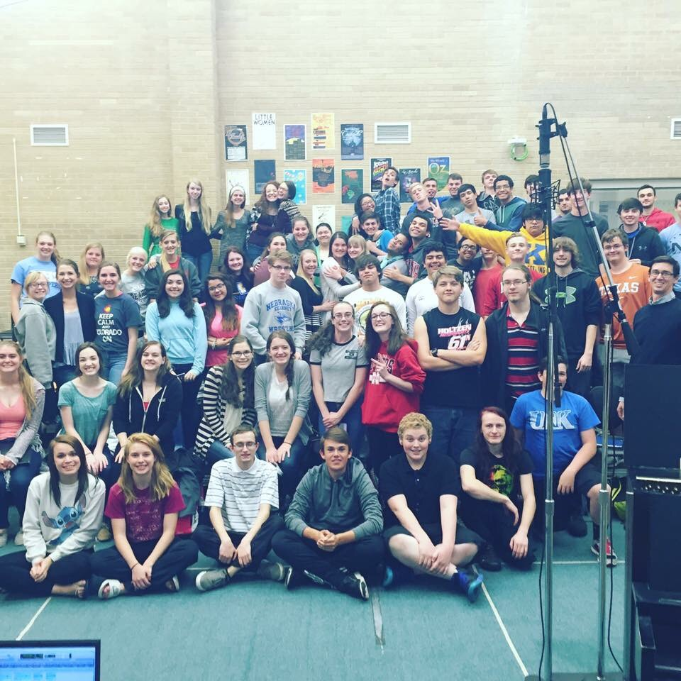 The Kearney High School choir recording with Tone Tree Audio in April 2016 at KHS in Kearney.