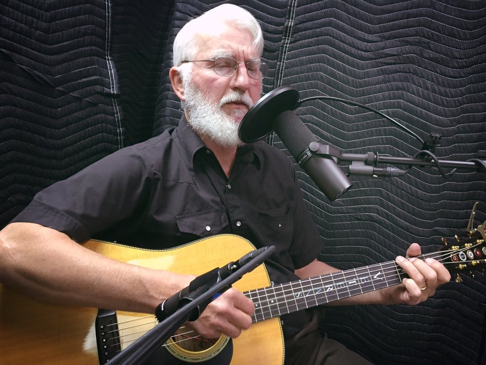 Art Hansen records a track from his album 'Sometime Dreamer' at A NOTE-Worthy Studio in Kearney, Nebraska in August 2016.