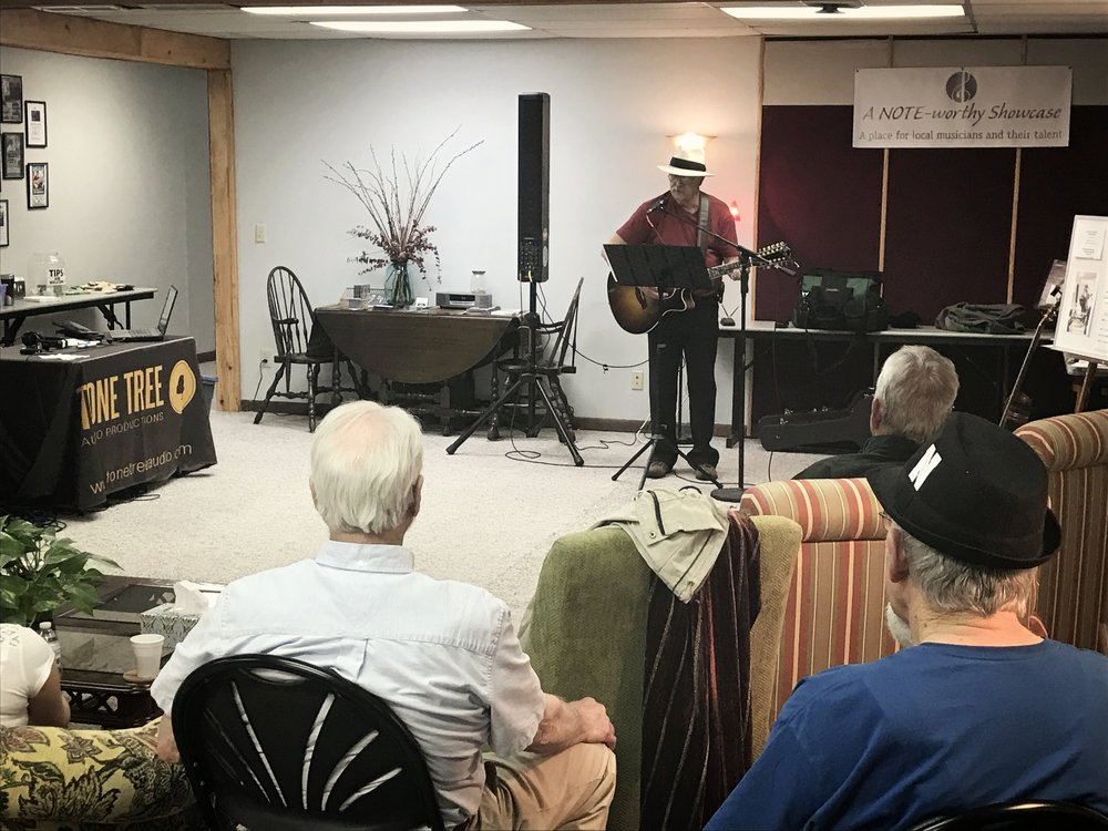 Don Richmond performs at A NOTE-Worthy Studio in Kearney, Nebraska in March 2017. Richmond's performance was recorded and engineered by Tone Tree Audio, LLC for his 'Fifty Dollar Car' CD to release in May 2017.