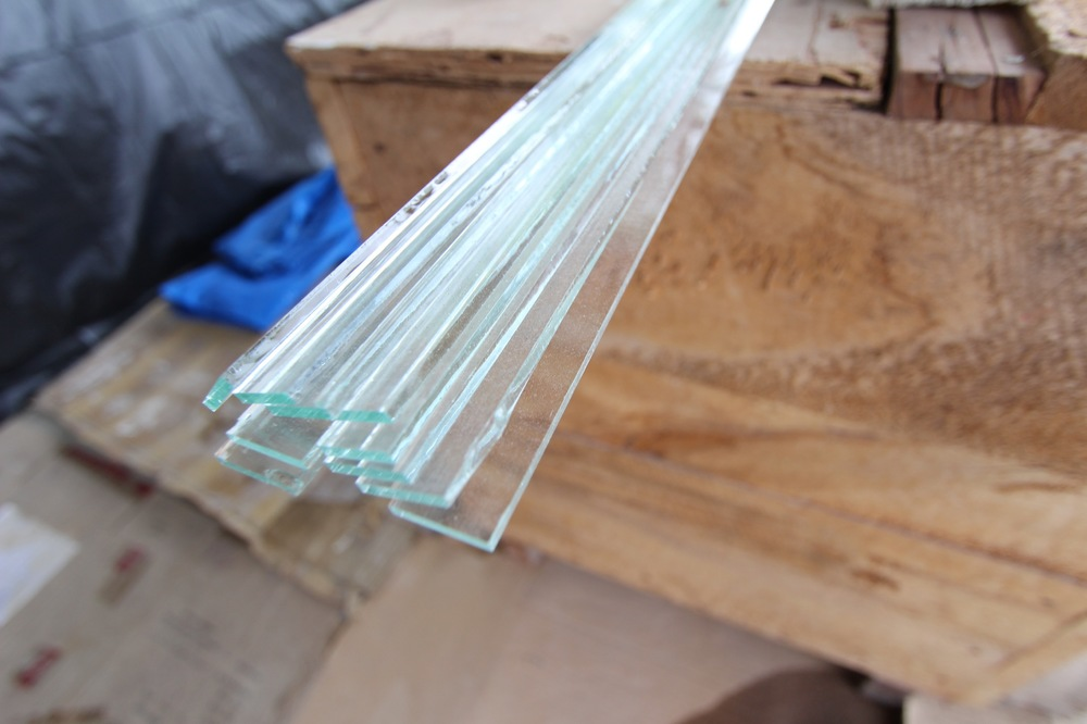Glass Strips waiting to be used