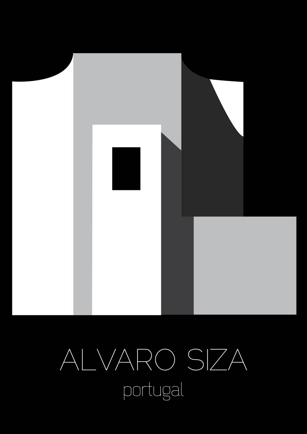 Poster d'architecture, Alvaro SIza - www.marionchibrard.com   please do not remove images credits