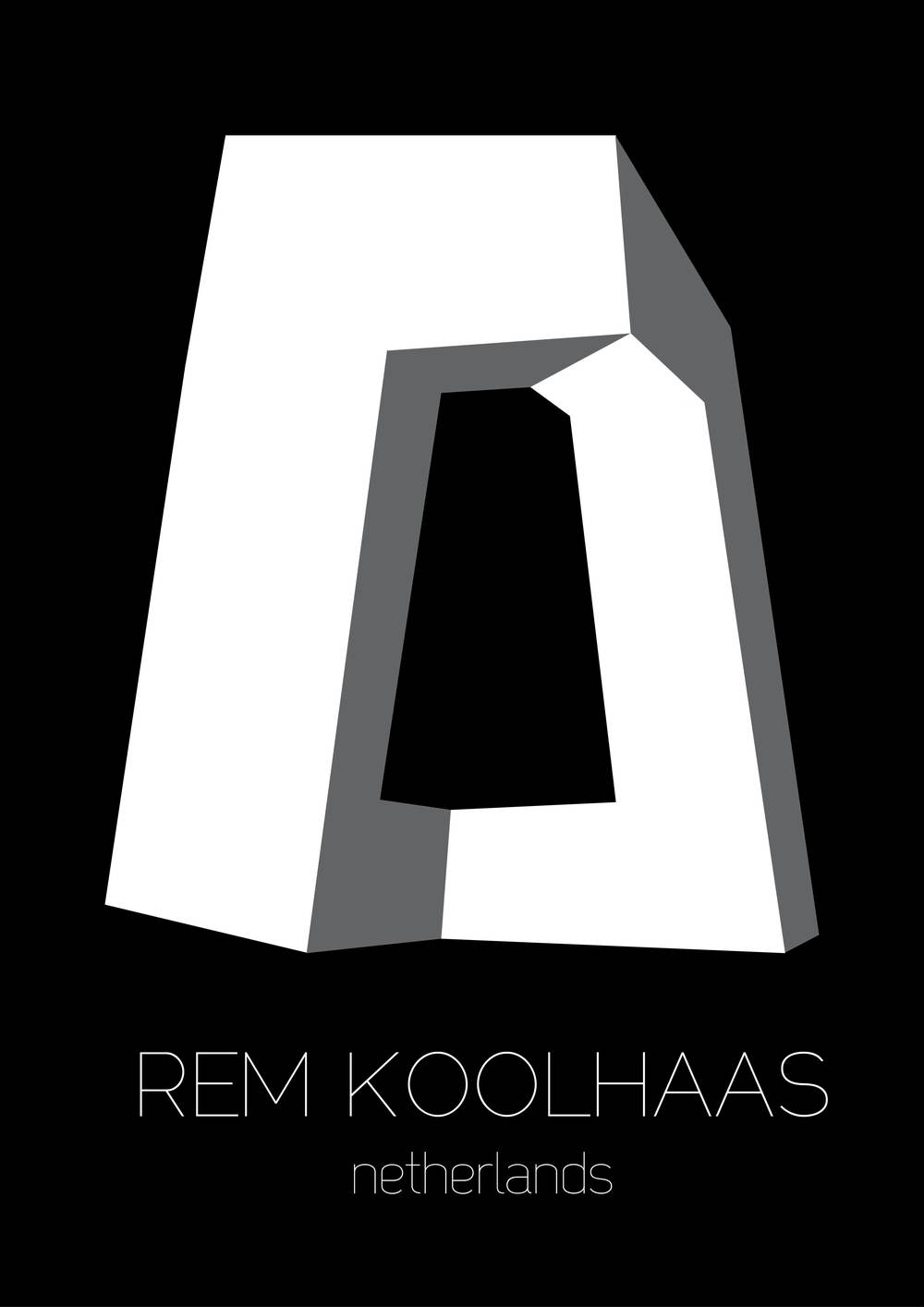 Poster d'architecture, Rem Koolhaas - www.marionchibrard.com   please do not remove images credits