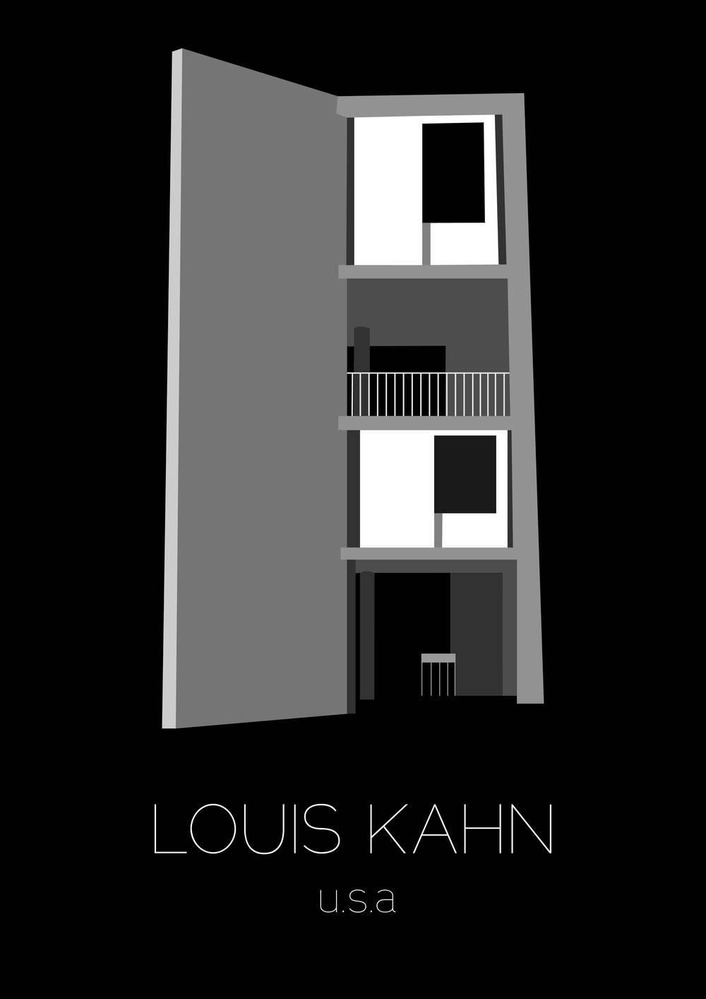 Poster d'architecture, Louis Kahn - www.marionchibrard.com   please do not remove images credits