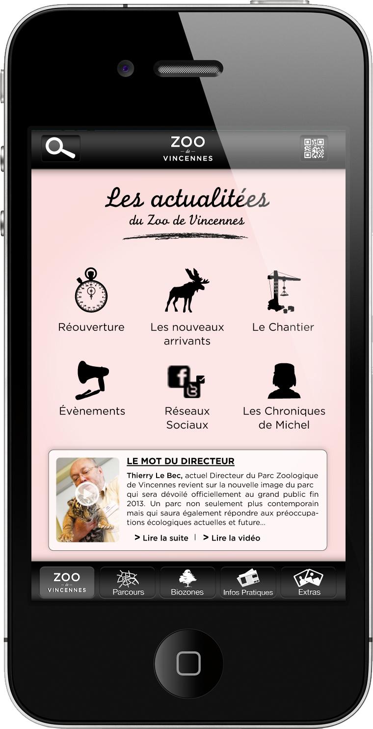 L'application iPhone du Zoo de VIncennes - www.marionchibrard.com