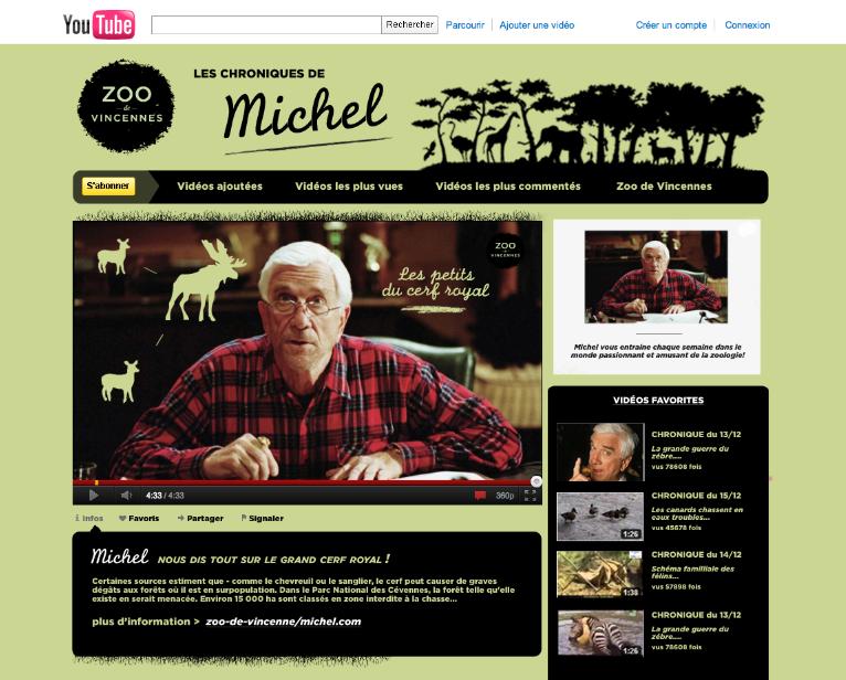 La chaîne Youtube du Zoo de VIncennes - www.marionchibrard.com