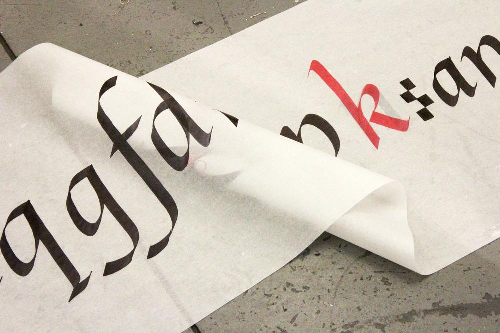 Cours de calligraphie avec Cara di Edwardo
