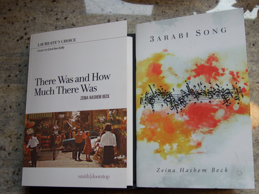 "Photo of Zeina Hashem Beck's Books ""There Was and How Much There Was"" & ""3arabi Song"""